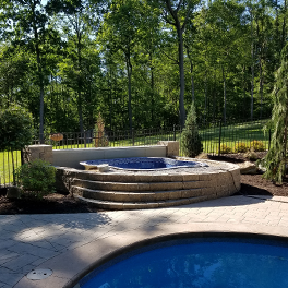 Landscape Design Showcasing Elevated Pool, Trafford PA