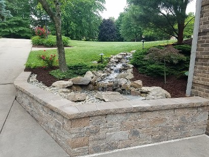 Wall with Pondless Waterfall